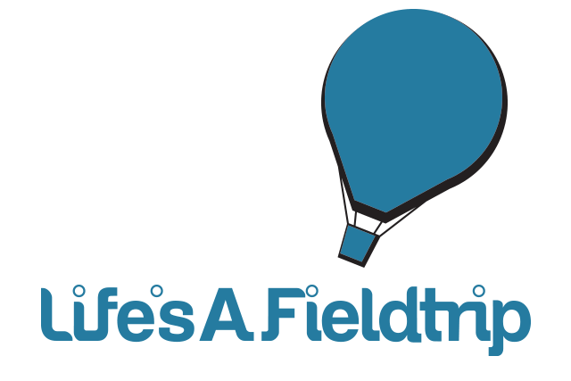The Life's A Fieldtrip Balloon Logo. Life's A Fieldtrip Takes Off